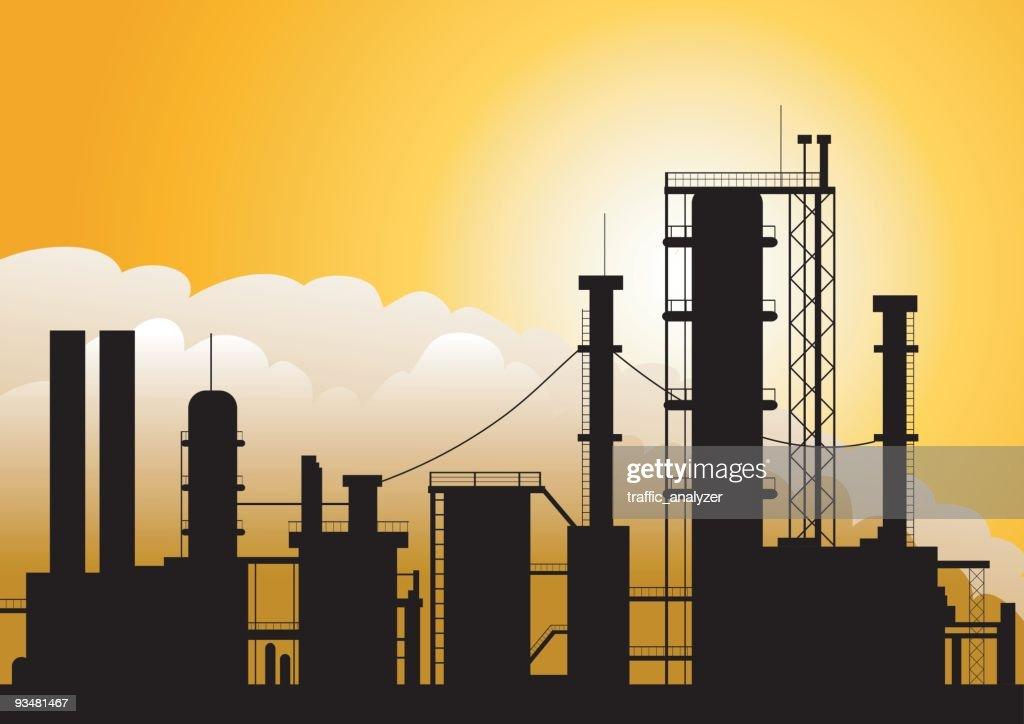 Oil factory : stock illustration