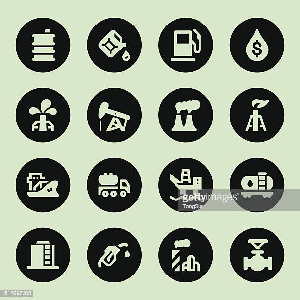 oil icons - circle - air valve stock illustrations, clip art, cartoons, & icons