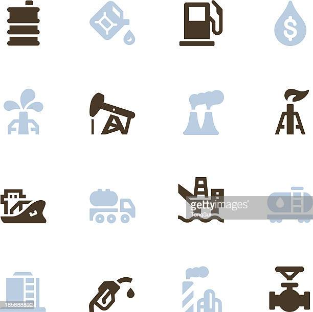 oil icons - color series - air valve stock illustrations, clip art, cartoons, & icons