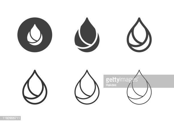 ilustrações de stock, clip art, desenhos animados e ícones de oil icons - multi series - óleo