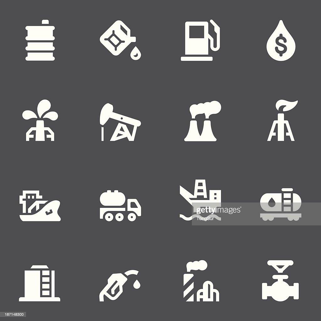 Oil Icons - White Series