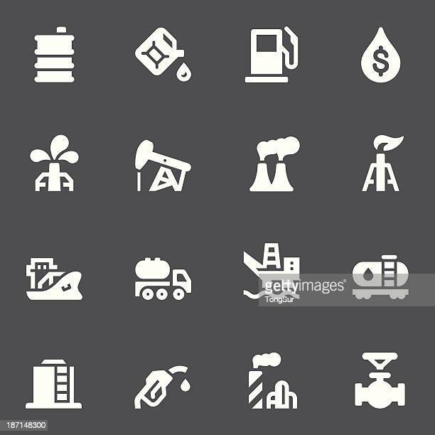 oil icons - white series - air valve stock illustrations, clip art, cartoons, & icons