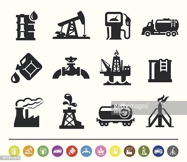 Oil industry icons | siprocon collection