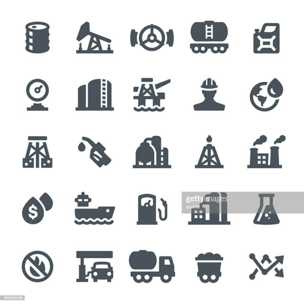 Oil Industry Icons : stock illustration
