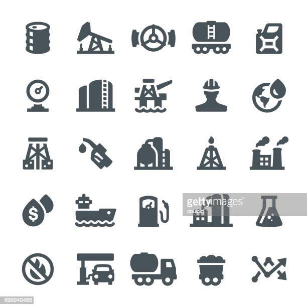 oil industry icons - offshore platform stock illustrations, clip art, cartoons, & icons