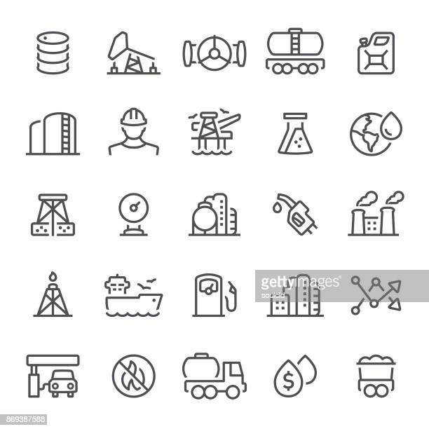 oil industry icons - petrol stock illustrations, clip art, cartoons, & icons
