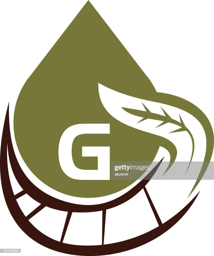 Oil Olive Nature Leaf Initial G
