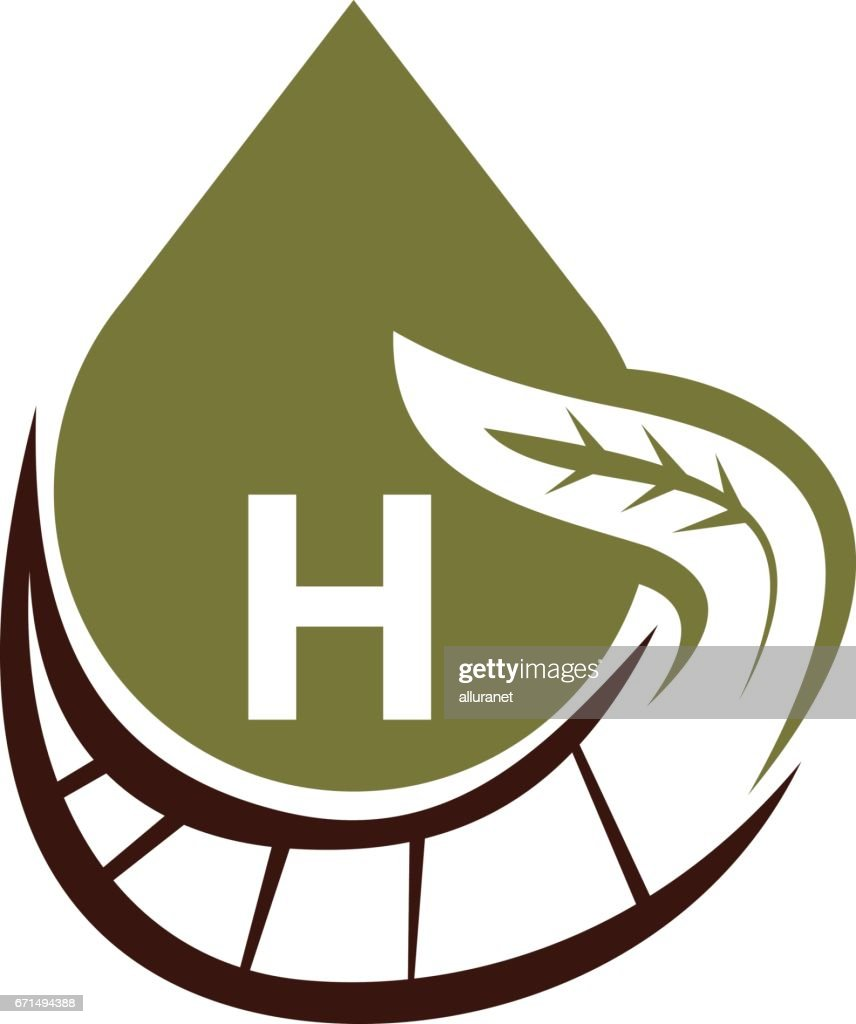 Oil Olive Nature Leaf Initial H