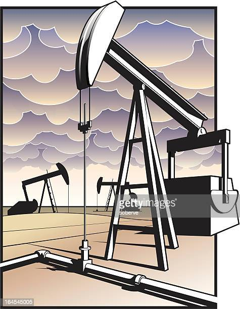 oil power - oil pump stock illustrations, clip art, cartoons, & icons
