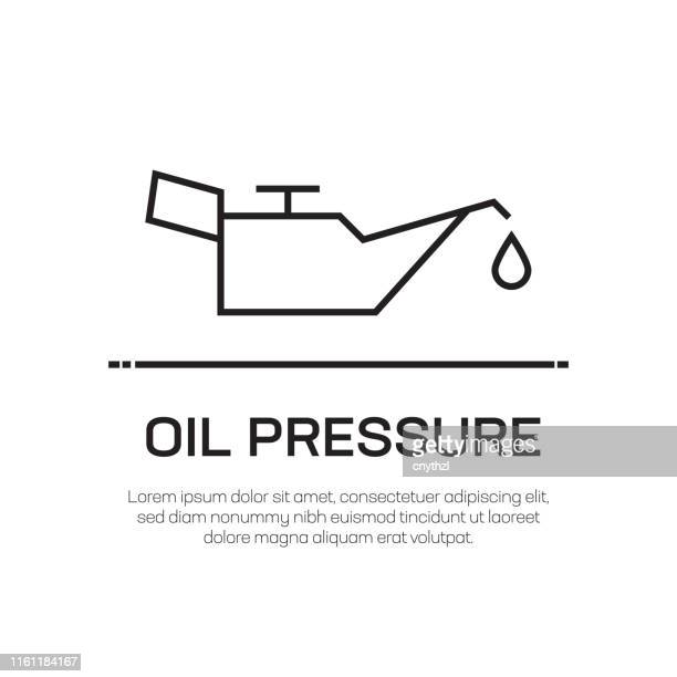 oil pressure line icon - water valve stock illustrations, clip art, cartoons, & icons