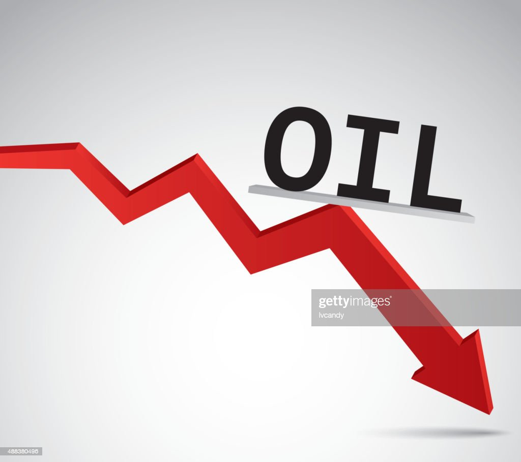 Oil price decline : Vector Art