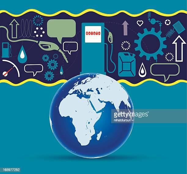 oil production and world - petrochemical plant stock illustrations, clip art, cartoons, & icons