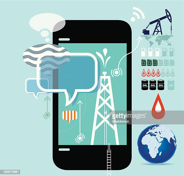 oil production drilling, mining, and refining - petrochemical plant stock illustrations, clip art, cartoons, & icons