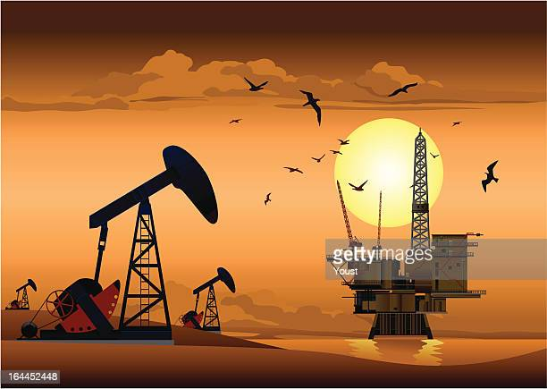 oil production - petrochemical plant stock illustrations, clip art, cartoons, & icons