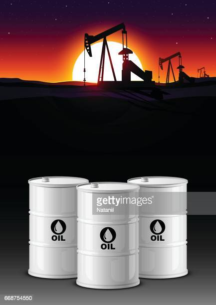 oil production - oil field stock illustrations, clip art, cartoons, & icons
