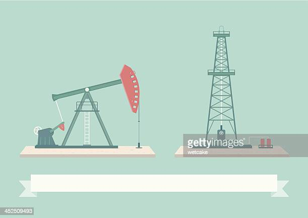 oil pump design elements - oil pump stock illustrations, clip art, cartoons, & icons