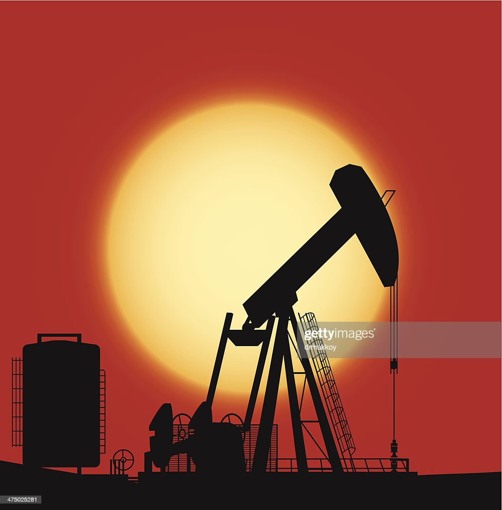 Oil Pump : Vector Art