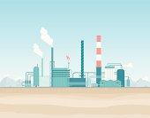 Oil Refinery in the Desert