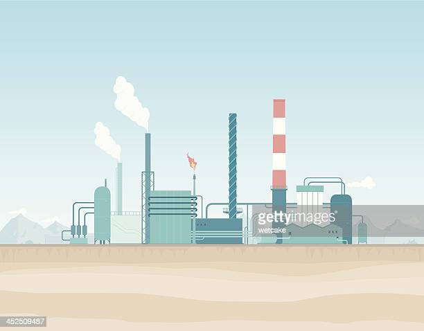 Oil Refinery in the Desert