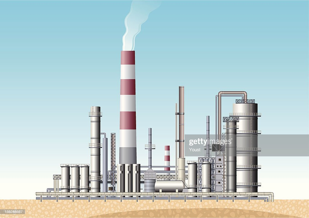 Oil Refinery : stock illustration