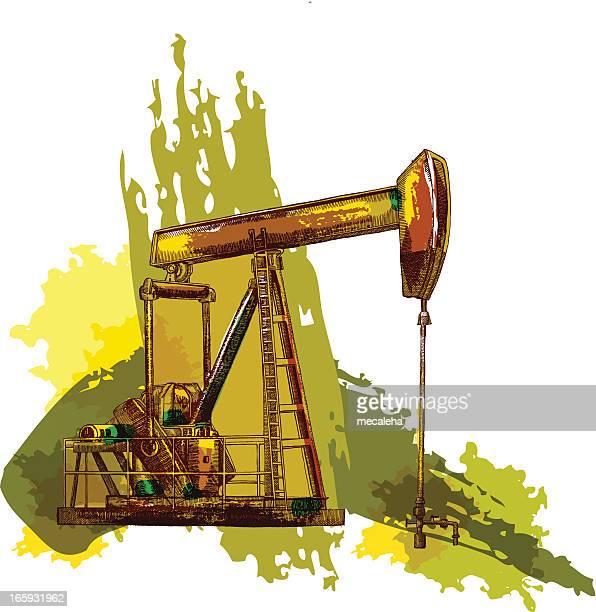 oil rig - drilling rig stock illustrations, clip art, cartoons, & icons