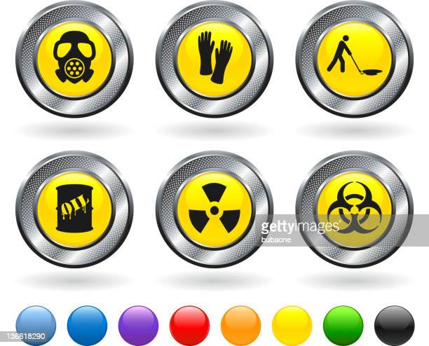 oil spill cleanup royalty free vector icon set
