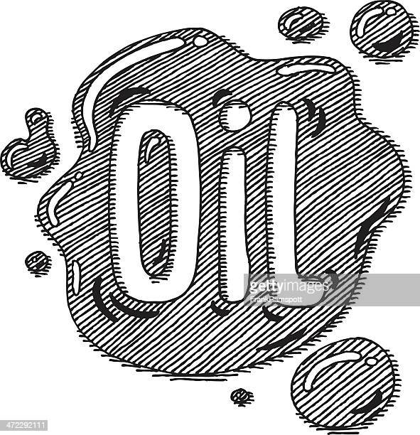oil spill lettering drawing - water pollution stock illustrations, clip art, cartoons, & icons