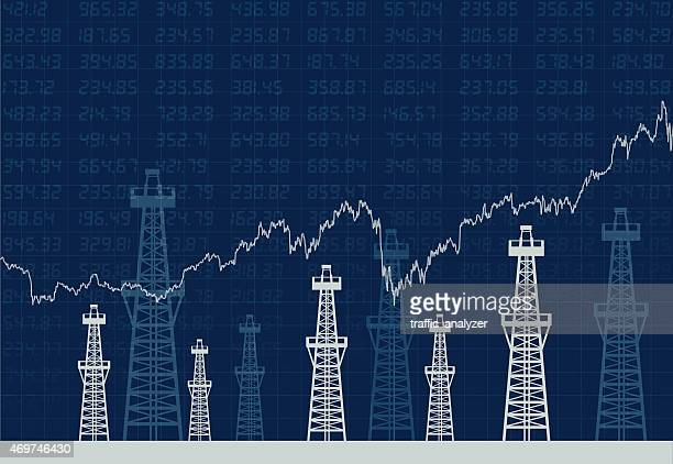 Oil towers and financial data