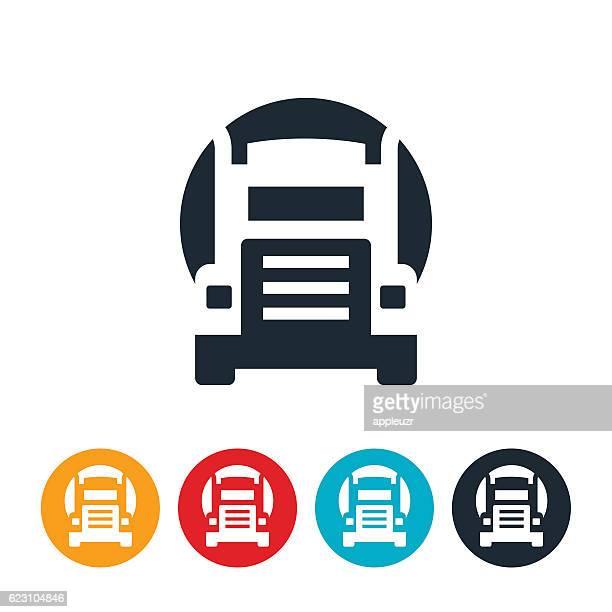 oil truck icon - oil tanker stock illustrations, clip art, cartoons, & icons