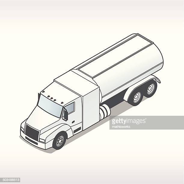 Oil Truck Illustration