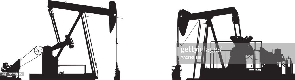 Oil Well Pump Drawings stock illustration - Getty Images