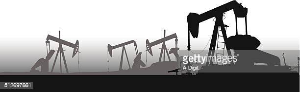 oilpumpfield - oil pump stock illustrations, clip art, cartoons, & icons