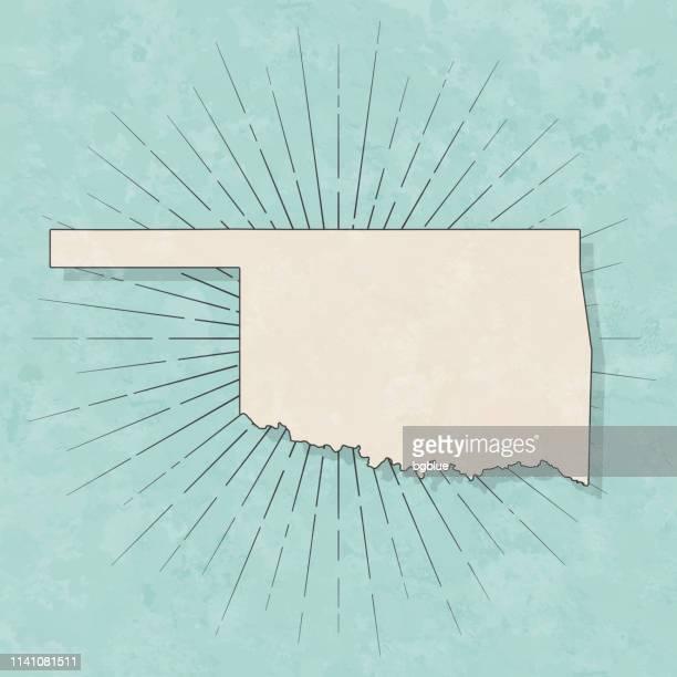 オクラホマ州の地図レトロヴィンテージスタイル-古いテクスチャー紙 - オクラホマ州点のイラスト素材/クリップアート素材/マンガ素材/アイコン素材