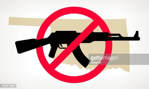 Oklahoma No arma violencia Vector Poster