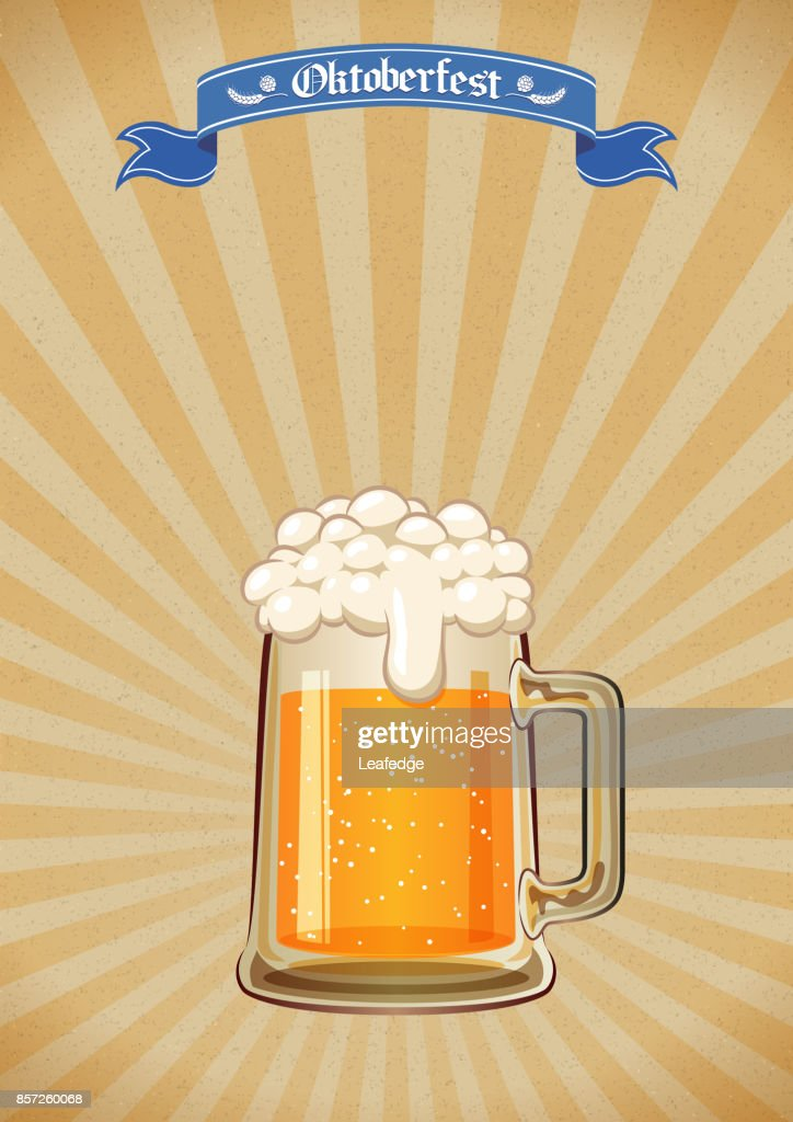Oktoberfest background [Beer festival Poster] : stock illustration