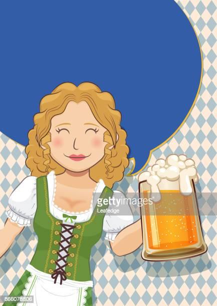 Oktoberfest background [Beer festival Poster]