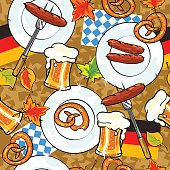 Oktoberfest background, seamless pattern