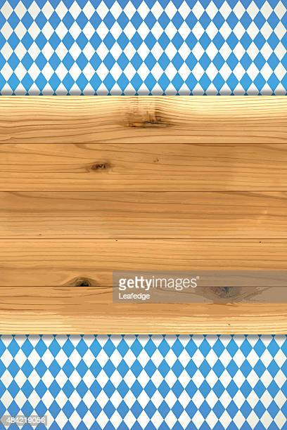 oktoberfest background[bavarian flag and board] - tree rings stock illustrations, clip art, cartoons, & icons