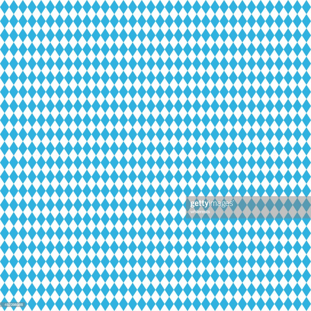 Oktoberfest blue seamless background.  Vector rhombus illustration
