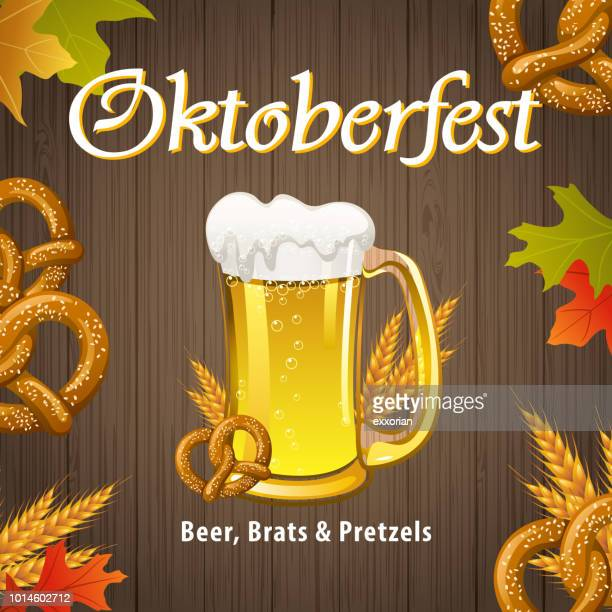 oktoberfest celebration - beer glass stock illustrations, clip art, cartoons, & icons