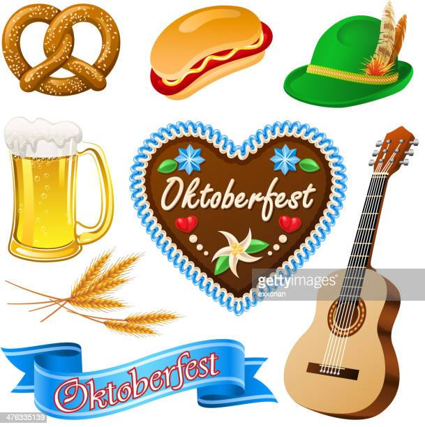 oktoberfest icon - germany stock illustrations