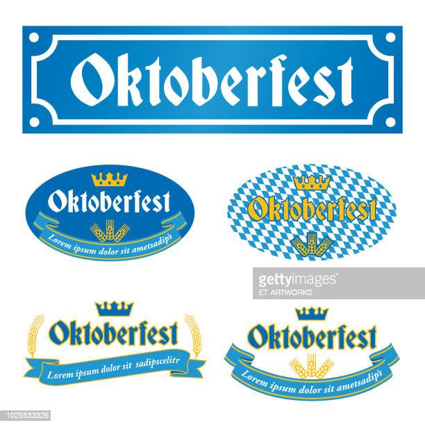 oktoberfest label - germany stock illustrations