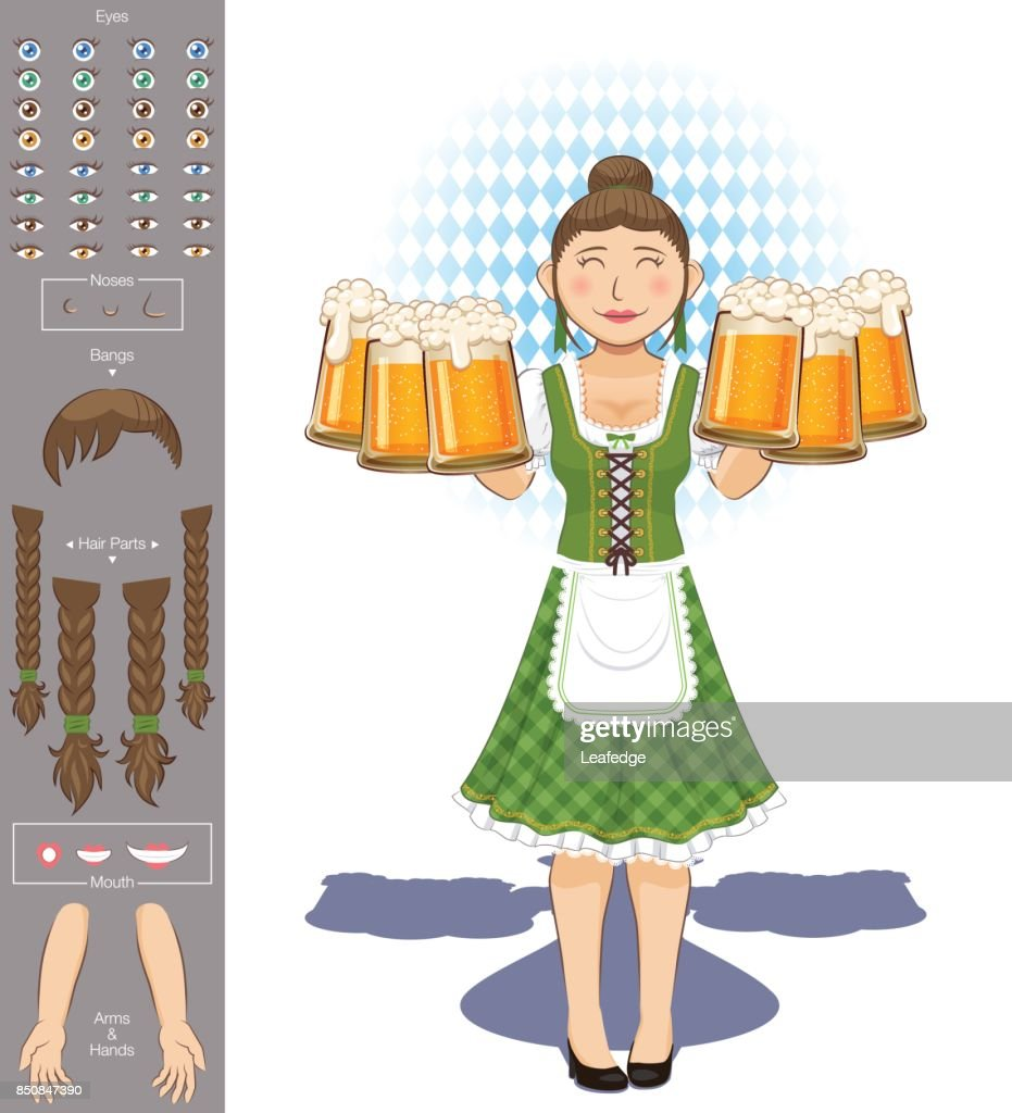 Oktoberfest [waitress with lots of beer glasses]