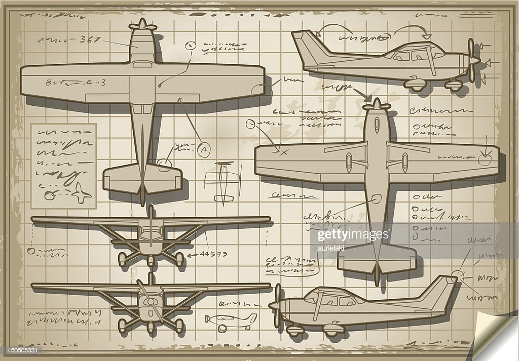 Old Airplane Project in six Orthogonal Views