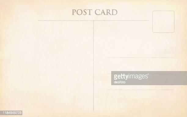 古い空白のベージュ色の色あせたヴィンテージポストカードベクトルイラスト - 葉書点のイラスト素材/クリップアート素材/マンガ素材/アイコン素材