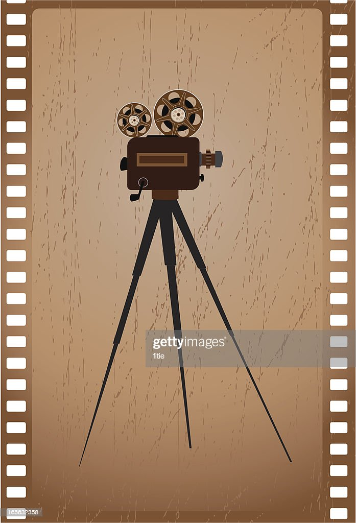 old camera and film : stock illustration