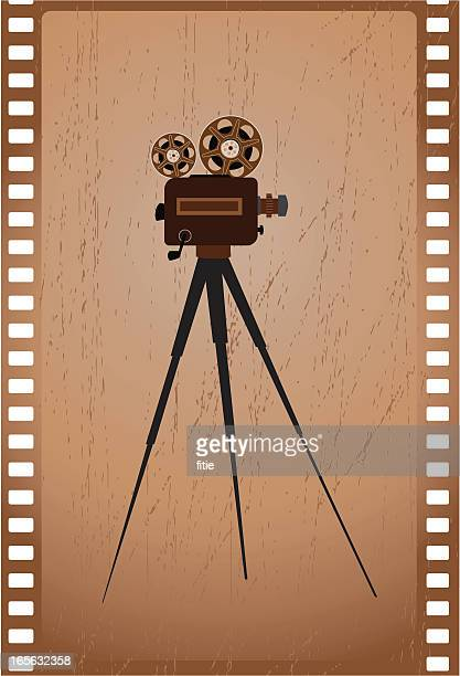 old camera and film - camera tripod stock illustrations, clip art, cartoons, & icons
