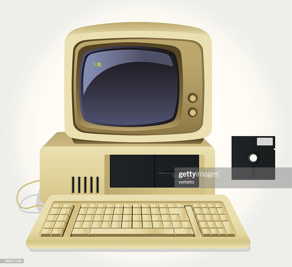 Old Computer : stock illustration
