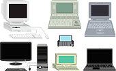 Old computer vector illustration