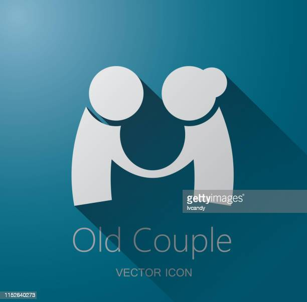 古いカップルシンボル - 年配のカップル点のイラスト素材/クリップアート素材/マンガ素材/アイコン素材
